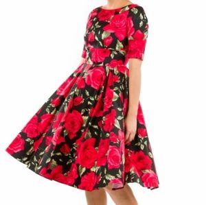 Hepburn in Red & Black Sorrento UK10/US 6
